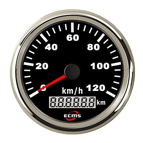 Dhmm123 Digital Auto Motorrad 85mm GPS Tacho 0-120Km / h Kilometerzähler Kilometerzähler Einstellbare Überdrehzahl Alarmanzeige Spezifisch