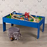 URBN-TOYS Assorted Color Wooden Large Train Table & Roadway Set- Roadway Set, Building