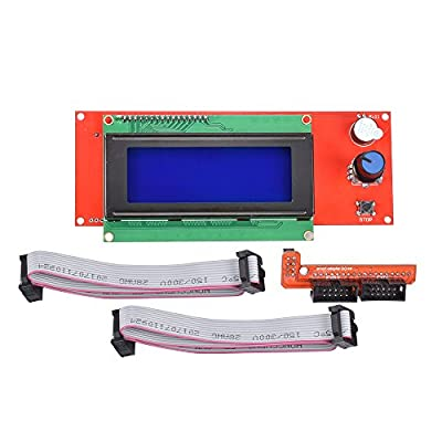KINGPRINT LCD 2004 Graphic Smart Display Controller Module with Adapter and Cable for 3D Printer
