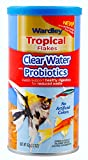 Wardley Tropical Fish Food Flakes Clear Water with Probiotics, 2.2 oz, Highly Digestible Fish Flakes, Immunity Boosting