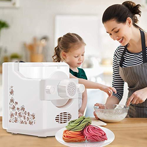 TTLIFE Máquina para Hacer Pasta Eléctrica 180W 500g Pasta Maker De Capacidad con 9 Troqueles Grandes Fabricante De Fideos Inteligente y Seguro Saludable y Sin Aditivos,Hacer Fideos Automáticamente