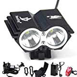 Nestling® 5000Lm Bike Lights Cree X2 LED Mount Bicycle Lights Headlight Flashlight Rechargeable