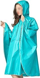 WZHZJ Fashion Big Cap Hooded Women Trench Raincoat Outdoor Waterproof Long Impermeable Rain Poncho Cloak for Hiking Climbi...
