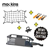 "Mockins Hitch Mount Cargo Carrier | The Steel Cargo Basket is 60"" Long X 20' Wide X 6"" Tall with A Hauling Weight Capacity of 500 Lbs and A Folding Shank to Preserve Space When Not in Use … … …"