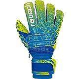 Reusch Fit Control Deluxe G3 Fusion Evolution Ortho-Tec Guantes de Portero, Hombre, Azul/Verde Lima, 8