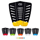 WOOWAVE Surfboard Traction Pads 3 Piece EVA Surfing Traction Pad Premium with 3M Adhesive and Tail Kicker for Surf Board Skimboard Longboard, Yellow