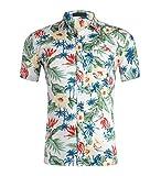 Hawaiian Shirts Mens Flower Print Beach Aloha Party Holiday Print2 M