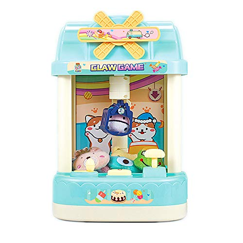 ForBEST Claw Machine Magical Claw Machine Mini Claw Machine with 6 Dolls, 10 Capsules, USB Cable, Best Gift for Kids (Blue)