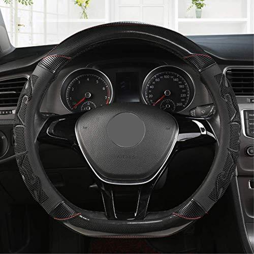 NFRADFM Cubierta de Volante de Cuero de Microfibra de Tipo D Type, para Chevrolet Cruze Captiva Lacetti Aveo Niva Spark Sonic Trax Camaro