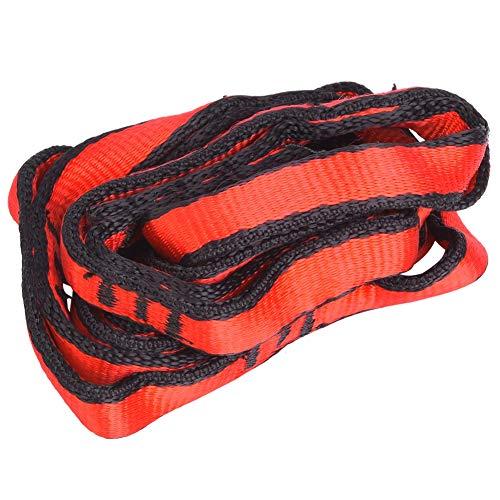 Correa de alpinismo - Cuerda de cadena de nylon con bucle Hamaca de yoga Correa para colgar Accesorio de escalada de montañismo(rojo)