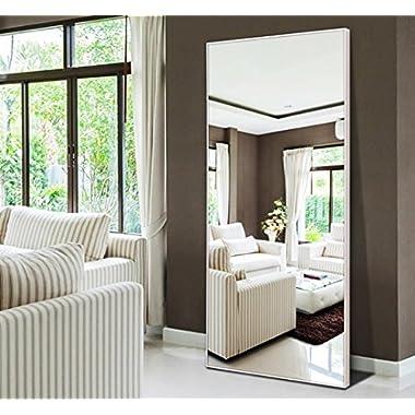 Hans&Alice Full Length Bedroom Floor Leaner Mirror,Free Standing Dressing Mirror 65 x22