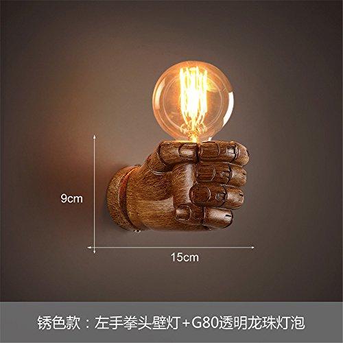 DengWu wandlamp antieke wandlampen creatieve persoonlijkheden Amerikaanse industriële wind hoogslaper tweepersoonsbed gang voor restaurant en bar zijn de muren met licht versierd