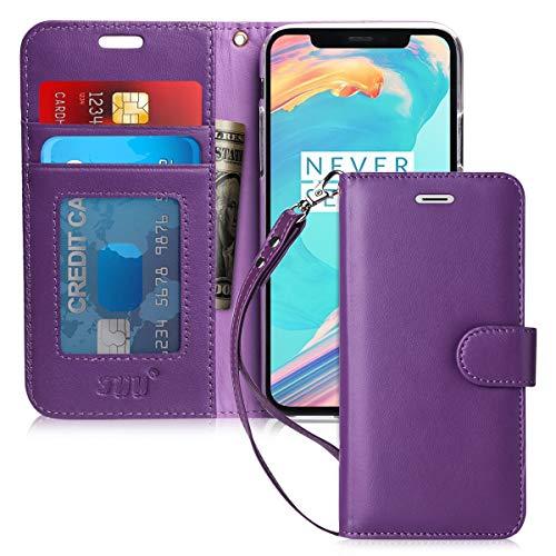 FYY Cover iPhone 6S,Cover iPhone 6, [Vera Pelle] Flip Custodia Portafoglio con Funzione Supporto e Slot per Schede per iPhone 6/6S 4.7'-porpora