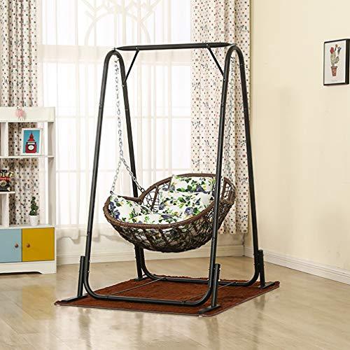 Swing Chairs ALUK- Columpio Individual para Cesta Colgante Y Silla De Mimbre, Mecedora para...