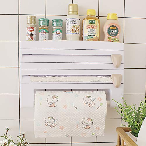 WENCY ABS-plank zonder boren, voor het ophangen van plastic handdoeken en papieren doeken met snijder.