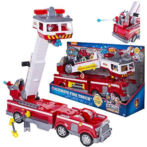 PAW PATROL 6043989 - Ultimate Rescue Feuerwehrauto mit Marshall - Figur