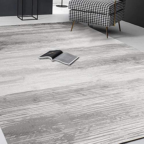 Carpet stairs carpet Easy clean gray cream simple design non-slip carpet nursery decor bedroom rug 60*160CM