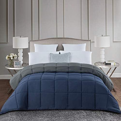 HOMBYS Down Alternative Reversible Comforter Queen Size All Season Hypoallergenic Tabs Duvet product image