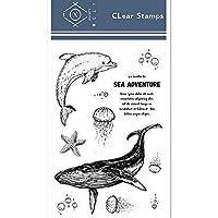 11x16cmイルカとクジラ透明なシリコーンゴムクリアスタンプ漫画スクラップブッキング/ DIYクリスマス子供のおもちゃアルバム