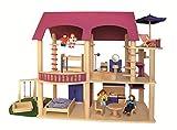 Wendelstein Werkstätten Puppenhaus Villa Lilly - pink - ohne Möbel und Puppen