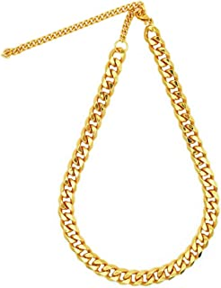 TUOKAY direct Big Flat Gold Puppy Chain Dogs Fashion Gold Costume Necklace Chain Dog Collar, 12mm, 15