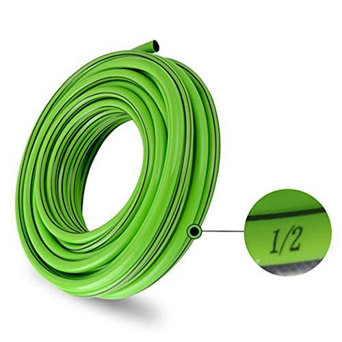 Waterslang HAIYU- Dikke flexibele tuinslang thuis PVC pijp, anti-knik en koudbestendig, 1/2 Inch diameter, 3-laags slang voor Irrigatie en auto wassen, groen