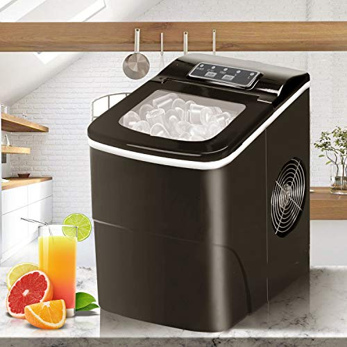 Bossin Countertop Ice Maker Portable Ice Making Machine with Timer -Bullet Ice Cubes Ready in 6 Mins...