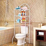 Youyijia 3-Tier Over The Toilet Storage Shelf Units Bathroom Organizer Multi-Functional Laundry Space Toilet Paper Organizer In Washroom 177 * 65 * 34cm