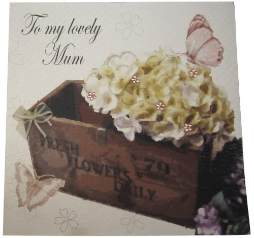 White Cotton Cards MD12 to a Lovely Mum Vintage door