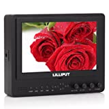 Professional LILLIPUT 7'' 665 / O 665GL-70NP / HO / Y Color TFT LCD Monitor With HDMI, YPbPr, AV Input HDMI Output / With F-970 & QM91D Battery Plate + Sun Shade Cover / for DSLR Camera With HDMI Port / Such as: Canon 5D II / 5D III / 7D / Nikon D800 / D800E / D7000 D4 Camera etc