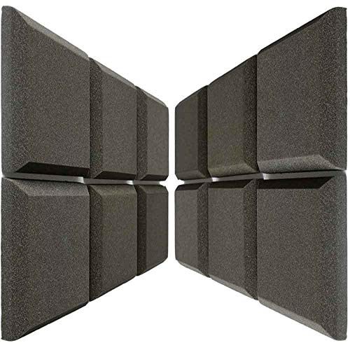 Mybecca [12 PACK] Acoustic Foam BEVEL Tiles Soundproofing...