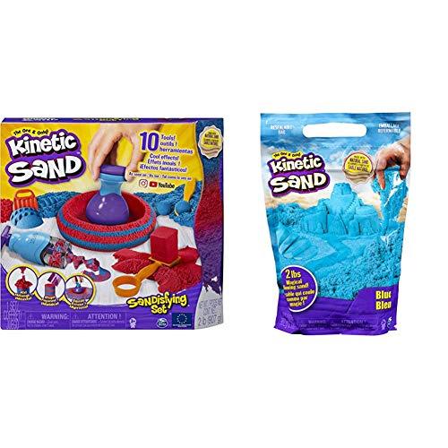 Kinetic Sand 6047232 - Sandisfying Set & 6047183 - 907 g Beutel blau