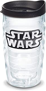 Tervis Star Wars - Logo Tumbler with Emblem and Black Lid 10oz Wavy, Clear