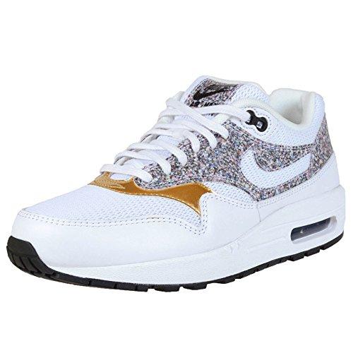 Nike Womens Air Max 1 SE White/White/Black Casual Shoe 6.5 Women US