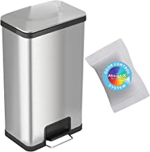 iTouchless 18 Gallon SoftStep Stainless Steel Step Trash Can with Odor Control System 68 Liter Bathroom, Kitchen, Office, ...