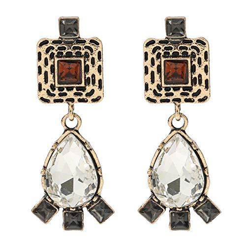 Vvff Pendientes De Cristal En Forma De Gota De Metal Pendientes De Fiesta Para Mujer Accesorios Exquisitos
