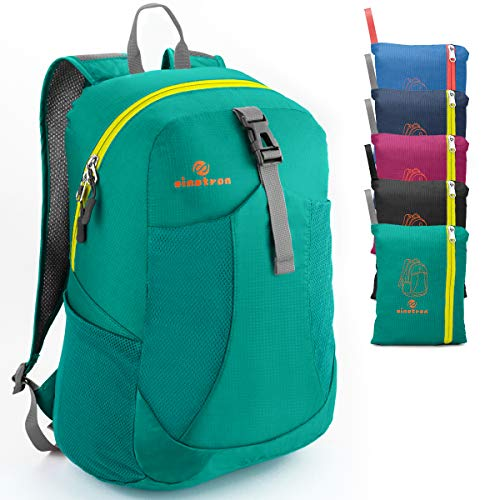 sinotron Ultra Lightweight Packable Backpack Travel Hiking Small Daypack -Foldable Day Pack for Travel Camping Outdoor (Green)…