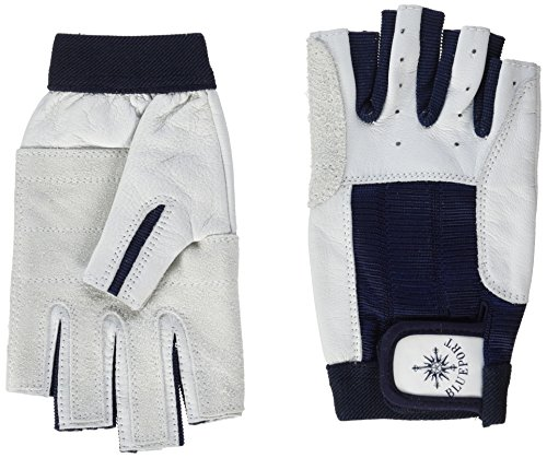 BluePort Dla dorosłych (unisex) rękawice żeglarskie ze skóry - bez palców S, białe, S