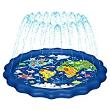 MAGIFIRE Splash Pad,SprinklerforKids&BabyPool3-in-1 WaterToysGiftsfor12345YearOldBoysGirlsToddlerSplashPlayMat (Map)