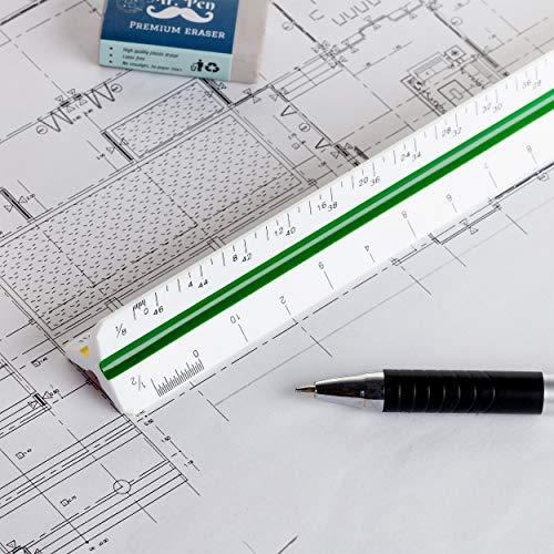 """Mr. Pen Architectural Scale Ruler, 12"""" Plastic Architect Scale Photo #6"""