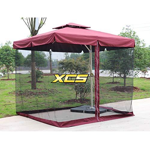 HUAQINEI Paraguas al Aire Libre Anti-Paraguas/Paraguas de Mercado al Aire Libre/Tienda de sombrillas/Paraguas de jardín,Soporte de Aluminio Paño de poliéster Impermeable Anti-Plegable,Moderno