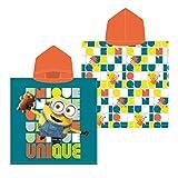 Textil Tarragó Minions Toalla con Capucha, Algodón, Multicolor, 30x30x3 cm