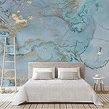 Fototapete Design 250 cm X 175 cm Vlies Tapeten Wandtapete Vliestapete moderne Wandbild Wanddekoration Schlafzimmer Wohnzimmer 3d Hintergrundbild - Retro Luxus blau Bronzing Textur