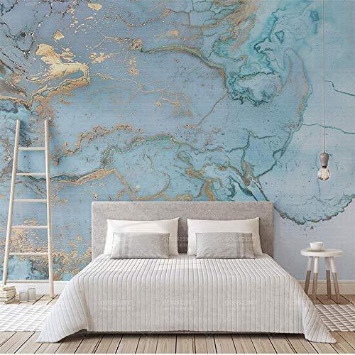 Fototapete Design 400 cm X 280 cm Vlies Tapeten Wandtapete Vliestapete moderne Wandbild Wanddekoration Schlafzimmer Wohnzimmer 3d Hintergrundbild - Retro Luxus blau Bronzing Textur