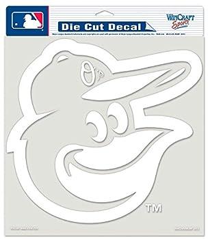 MLB Baltimore Orioles White Wordmark Decal