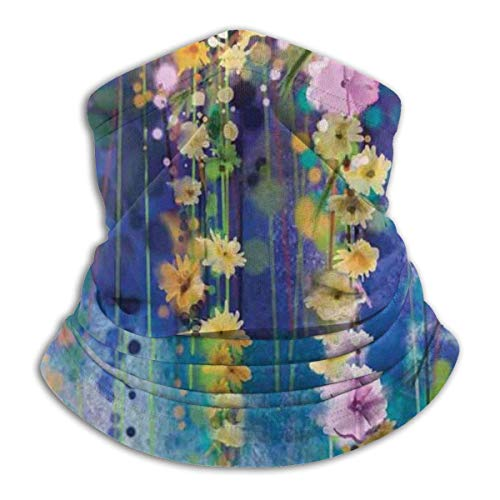 Python Mix Aquarell Blume Reben Blumen Garten Unisex Fleece Halswärmer Winddichte Winter Hals Gamasche Kaltwetter GesichtsMas-ke für Männer Frauen
