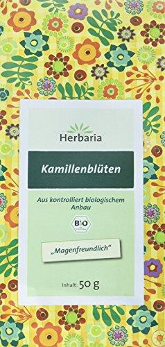 Herbaria Kamillenblüten , 1er Pack (1 x 50 g Tüte) - Bio