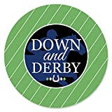 Big Dot of Happiness Kentucky Horse Derby - Etiquetas adhesivas para fiestas de carreras de caballos – 24 unidades