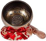 Rovtop Campana Tibetana 9.5 cm 9 Metalli (Migliore di 7 Metalli), Percussione a Mano per M...