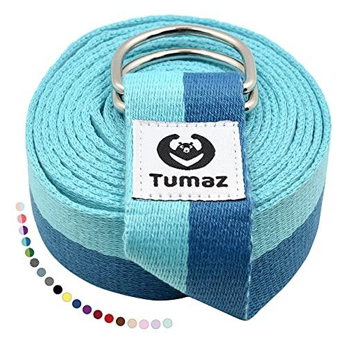 Tumaz Cinturón de Yoga / Correa Yoga [15+ Color, 180/240/300 cm] Hebilla Anillo-D...